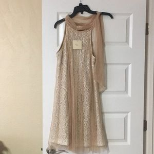 Mod cloth tan dress